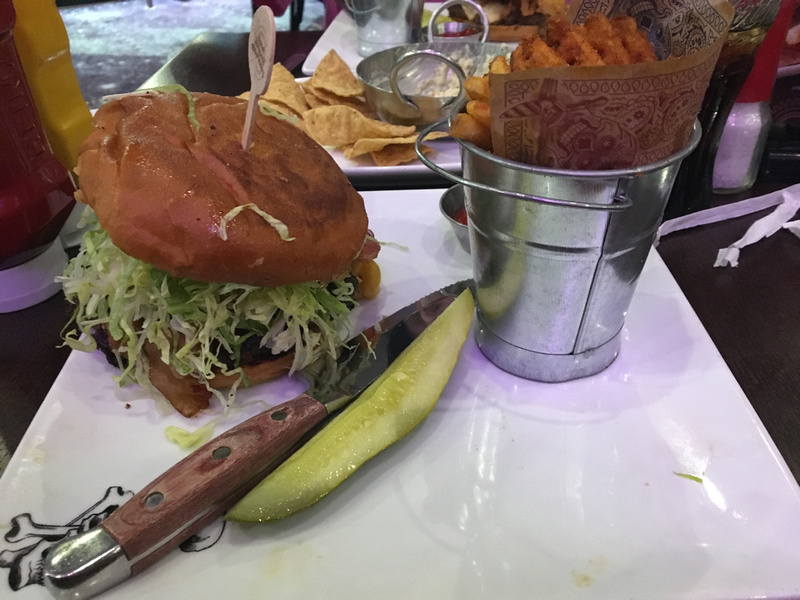 my bacon mac n cheese burger