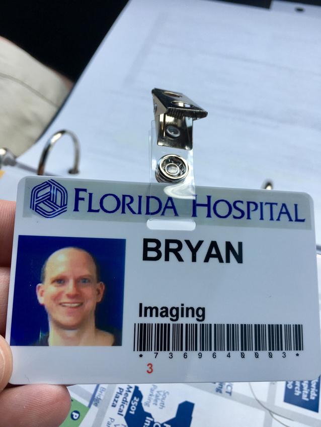 Bryan's badge
