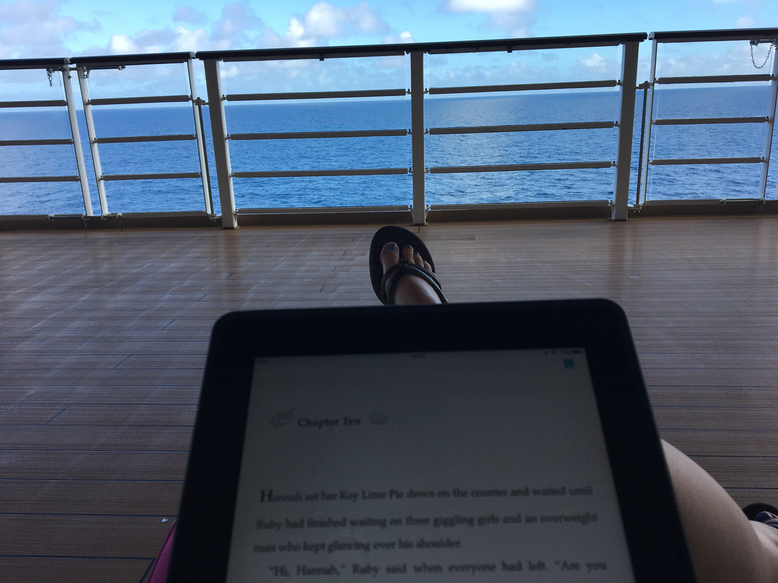 read on the promenade deck while Bryan slept
