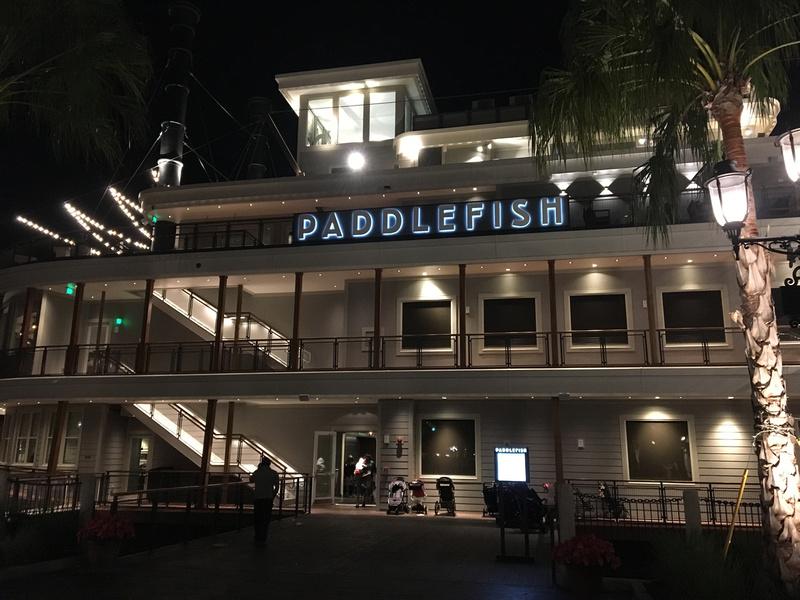 dinner at Paddlefish