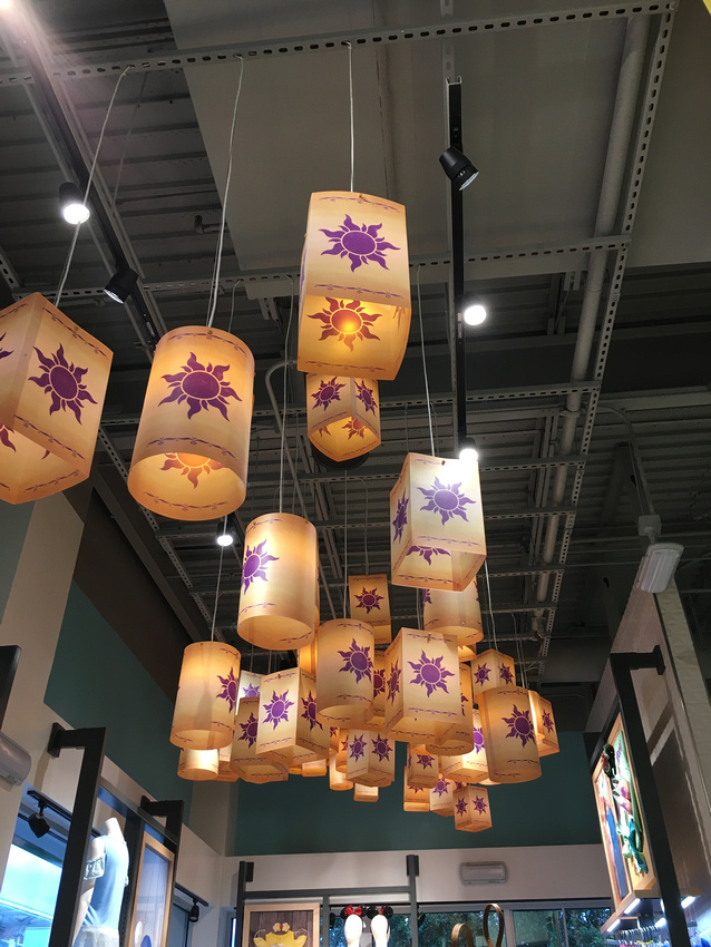 JULY- Disney Style store- tangled lanterns